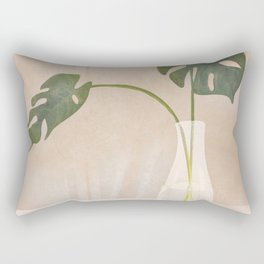 A Couple of Monstera Leaves Rectangular Pillow