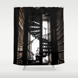 Trinity College Library Spiral Staircase Shower Curtain
