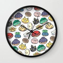 Poke Donuts Wall Clock