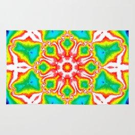 Rainbow Kaleidoscope Rug