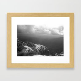 Table Mountain before the storm Framed Art Print