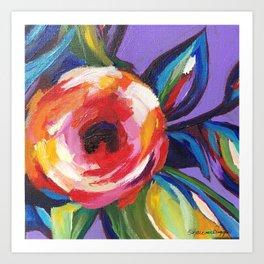 Rainbow Rose Purple Art Print