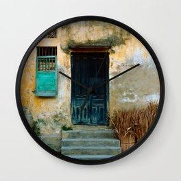 VIETNAMESE FACADE of HOI AN Wall Clock