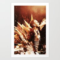 wesley bird Art Prints featuring Wesley Sneijder by Max Hopmans / FootWalls