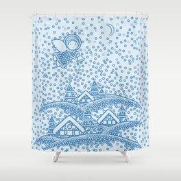 SNOW ANGEL Shower Curtain