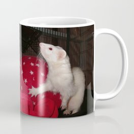 The Ivory Ferret and the Starry Red Bouncy House Coffee Mug
