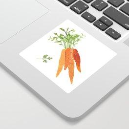 Carrot Illustration Sticker