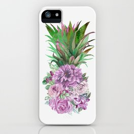 Floral Pineapple 1 iPhone Case