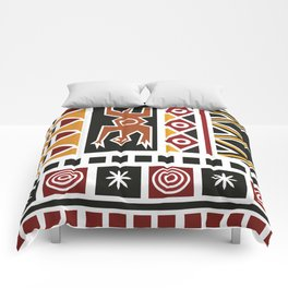African Tribal Pattern No. 20 Comforters