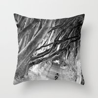 motorbike Throw Pillows featuring motorbike by kazmcart