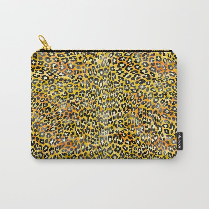Yellow Leopard Print Carry-All Pouch