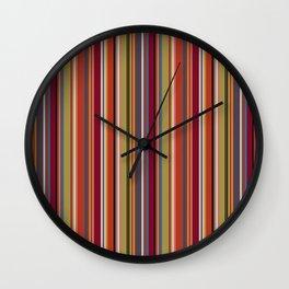 Bohemian red retro linen pattern Wall Clock