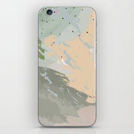 Sage Green Dusty Rose Pastel Watercolour Pattern iPhone Skin