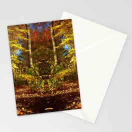 Fall's Golden Moments, an October vignette Stationery Cards