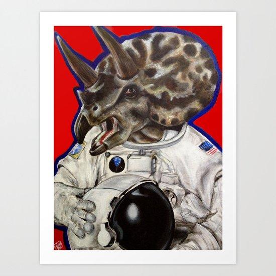 Prehistoric Astronaut Art Print