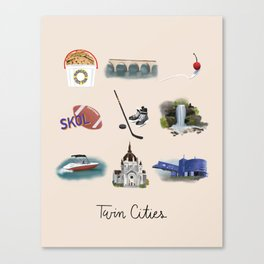 Twin Cities Canvas Print