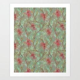 Red Gum Floral Art Print
