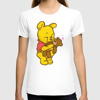 pooh T-shirts featuring Pooh And Teddy by Artistic Dyslexia