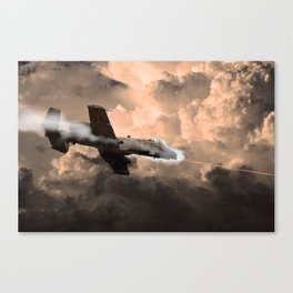A-10 Tipping In Canvas Print