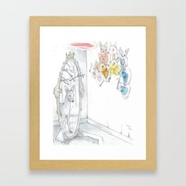 Dearer in the Mirror Framed Art Print