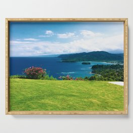Color photo of Firefly view in Ocho Rios, Jamaica by Larry Simpson Serving Tray