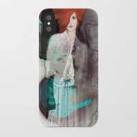 fashion illustration iPhone & iPod Cases featuring FASHION ILLUSTRATION 11 by Justyna Kucharska