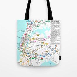 New York City Metro Subway Map Tote Bag