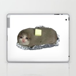 Crying Cat Baked Potato With Butter Laptop & iPad Skin