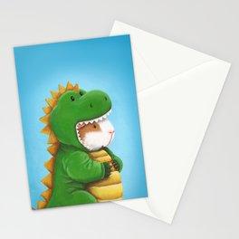 Guinea Pig in a Dinosaur Costume - Peegosaurus Rex Stationery Cards