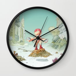 Lost robot Wall Clock