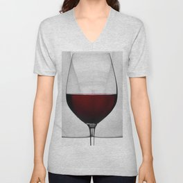 Red wine and naked woman Unisex V-Neck