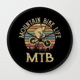 MOUNTAIN BIKE MTB Funny Cycling Gift Bicycle Rider Wall Clock