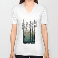 tennessee V-neck T-shirts featuring Tennessee Mist by Derik Hobbs Illustration