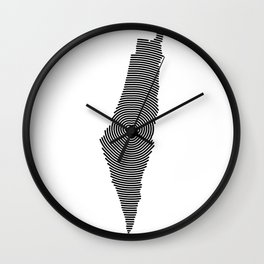 Palestine Map Wall Clock