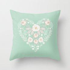 Nebula Pink Heart Throw Pillow