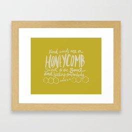 Honeycomb Proverbs x Mustard Framed Art Print