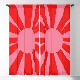 Pink Red Summer Sun Blackout Curtain