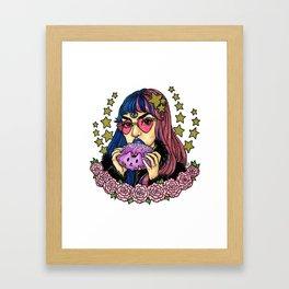 Resting Bitchface Babe Framed Art Print