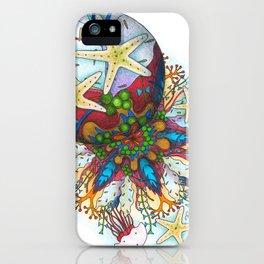 Marine Bubble Mandala iPhone Case