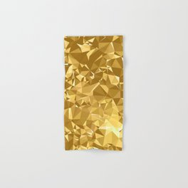 Gold Triangles Hand & Bath Towel