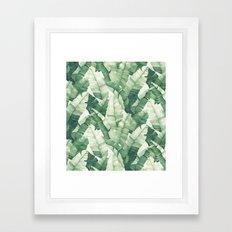 Banana leaves II Framed Art Print