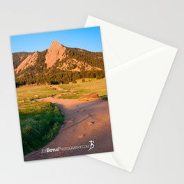 Sunrise In Boulder, Colorado With Path (Chautauqua State Park, Portrait) Stationery Cards