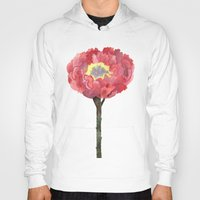 peonies Hoodies featuring Peonies by GANTPANTS