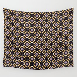 Glitched hypnotizing glowy pattern Wall Tapestry