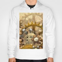 steampunk Hoodies featuring steampunk by Ancello