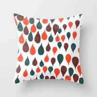 baloon Throw Pillows featuring Baloon by kartalpaf