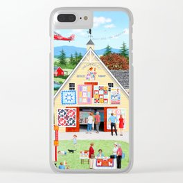 The Calico Cat Quilt Shop Clear iPhone Case