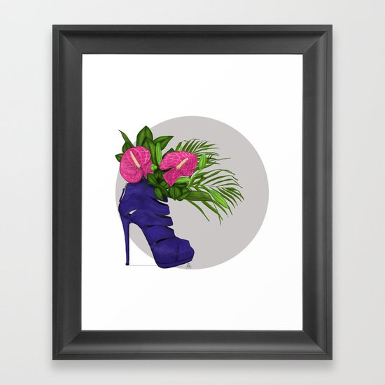 Thank you for flowers Framed Art Print