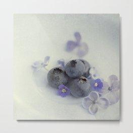 Blueberry Smile Metal Print