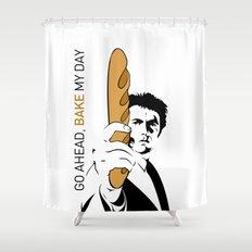 Go ahead, bake my day Shower Curtain